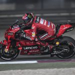 Francesco Bagnaia earned his first MotoGP pole Saturday in Qatar. (Ducati Photo)
