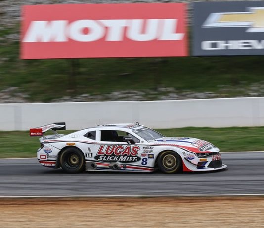 Tomy Drissi earned the Trans-Am Series pole on Saturday at Michelin Raceway Road Atlanta.