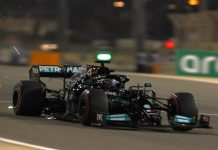 Lewis Hamilton held on to win Sunday's Bahrain Grand Prix. (LAT Images Photo)