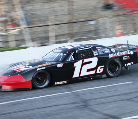 Derek Griffith won Friday's Easter Bunny 150 at Hickory Motor Speedway. (Adam Fenwick Photo)
