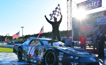 Jared Fryar dominated a late model stock car event on Saturday at Carteret County Speedway. (Eric Creel Photo)