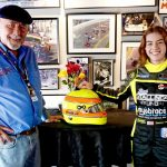 John Gorsline (left), with Courtney Crone, at Sebring Int'l Raceway in March of 2021. (Kathy Rose Photo)