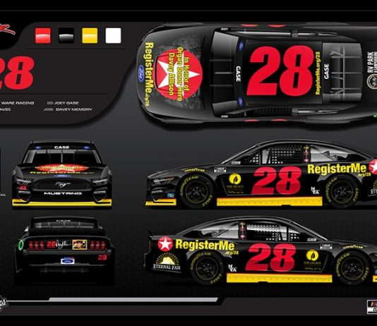 Joey Gase will honor the late Davey Allison during the upcoming NASCAR events at Talladega Superspeedway.