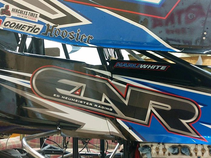 Harli White has teamed with Ed Neumeister to compete in sprint car events in Ohio.