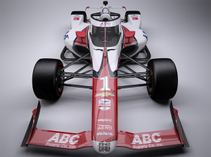 The car J.R. Hildebrand will drive during the Indianapolis 500 honors A.J. Foyt's 1961 Indianapolis 500 victory.