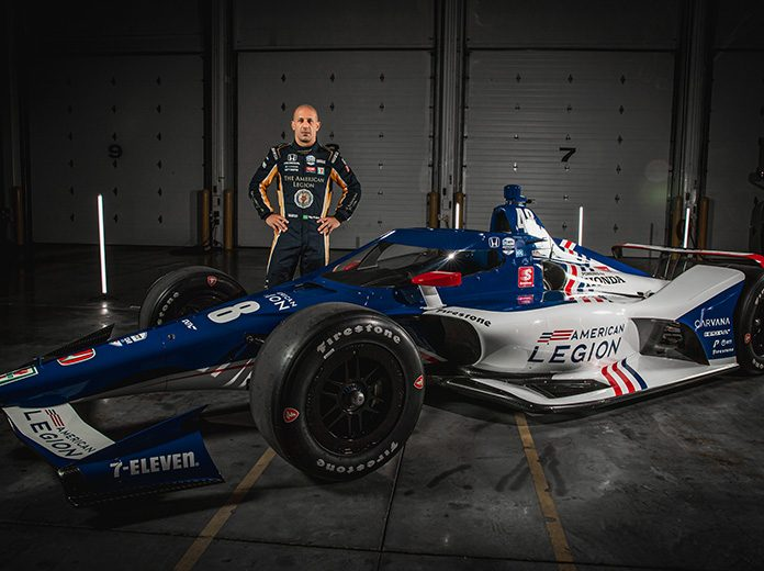 Chip Ganassi Racing has revealed the American Legion No. 48 Indy car that Tony Kanaan will drive in the Indianapolis 500.