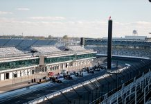 Testing at Indianapolis Motor Speedway, shown here last year, has been delayed by rain. (IndyCar Photo)