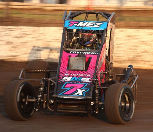 Thomas Meseraull was one of 15 drivers to practice Thursday at Port City Raceway. (Richard Bales Photo)