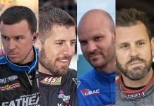 (From left) Kody Swanson, Doug Coby, Bobby Santos III and Brian Brown will each get the chance to race with the Superstar Racing Experience this year.