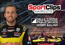Sport Clips has continued its sponsorship of Dale Coyne Racing with Vasser Sullivan.
