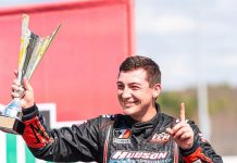Derek Griffith won Saturday's PASS super late model feature at Thompson Speedway Motorsports Park. (Tom Morris Photo)
