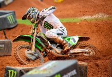 Eli Tomac won the inaugural Monster Energy AMA Supercross event held at Atlanta Motor Speedway on Saturday. (Feld Photo)