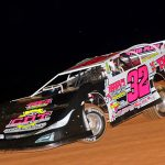 Dustin Mitchell won Saturday's Ultimate Super Late Model Series feature at Lake View Motor Speedway.