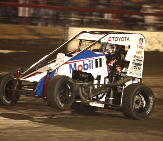 Buddy Kofoid romped from 16th to first Saturday at Port City Raceway. (Richard Bales photo)