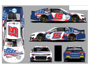 The car Jennifer Jo Cobb will drive when she makes her NASCAR Cup Series debut at Talladega Superspeedway.