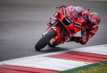Francesco Bagnaia set the pace during MotoGP practice on Friday. (Ducati Photo)