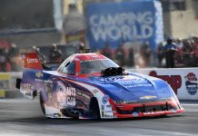 Robert Hight topped NHRA Funny Car qualifying in Las Vegas on Friday. (NHRA Photo)