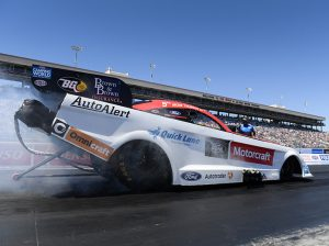 Bob Tasca III picked up his first Funny Car triumph in nearly two years Sunday in Las Vegas. (NHRA Photo)