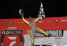 Devin Moran banked $22,000 for his victory Thursday at Atomic Speedway. (Jim Denhamer Photo)