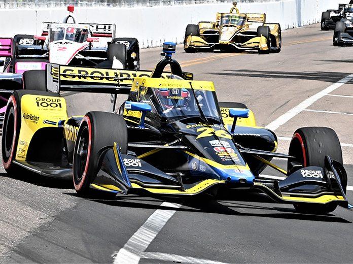 Colton Herta dominated the Grand Prix of St. Petersburg on Sunday. (Al Steinberg Photo)