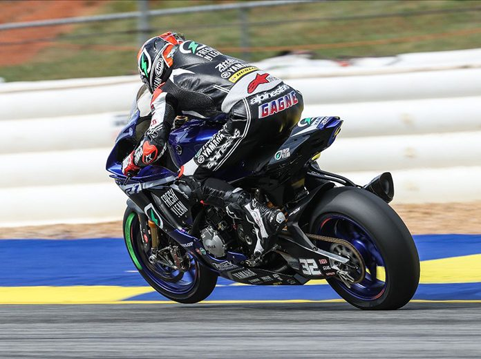 Jake Gagne was fastest during MotoAmerica practice Friday at Road Atlanta. (Brian J. Nelson Photo)