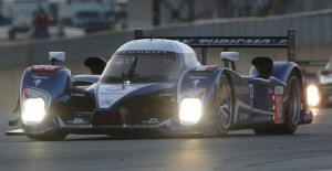 The trio of Franck Montagny, Stephane Sarrazin and Pedro Lamy led a one-two Peugeot finish in Saturday's Petit Le Mans, the season finale for the American Le Mans Series at Road Atlanta. (ALMS Photo)