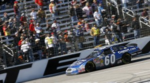 Carl Edwards wins the O'Reilly Auto Parts Challenge at Texas Motor Speedway in Fort Worth, Texas. (HHP/Harold Hinson Photo)