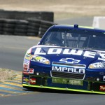KING OF THE ROAD: Jimmie Johnson earned his first road-course win in June's Toyota/Save Mart 350 in Sonoma, Calif. (HHP/Harold Hinson Photo)