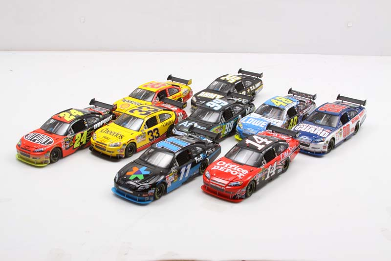 Race fans can fill out their collection (or start one), with this nine-car diecast set, which features the hottest racers (and future Hall of Famers) of the NASCAR Cup Series. A $540.00 Value!