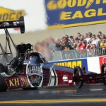 THREE TIMER?: Larry Dixon holds an 85-point advantage over Tony Schumacher in his quest for a third NHRA Top Fuel title. (Ted Rossino, Jr. Photo)