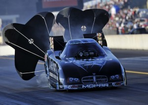 WHO WILL IT BE?: Matt Hagan leads John Force by a slim 37 points in the race for the 2010 NHRA Funny Car championship. (NHRA Photo)