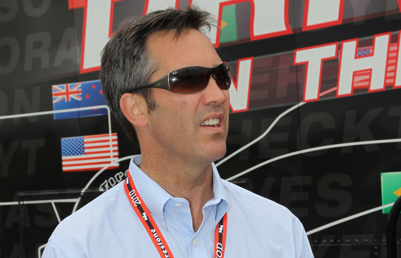 Randy Bernard was hired away from the Pro Bullrider's Ass'n to become CEO of the IndyCar Series and immediately began to affect change within the open-wheel racing community. (Ron McQueeney/IRL IndyCar Photo)