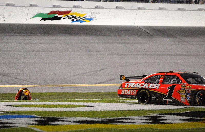 In his first race back with team owner Chip Ganassi, Jamie McMurray scored the biggest win of his career in the NASCAR Sprint Cup Series season opening Daytona 500 Feb. 14. (Phil Cavali Photo)