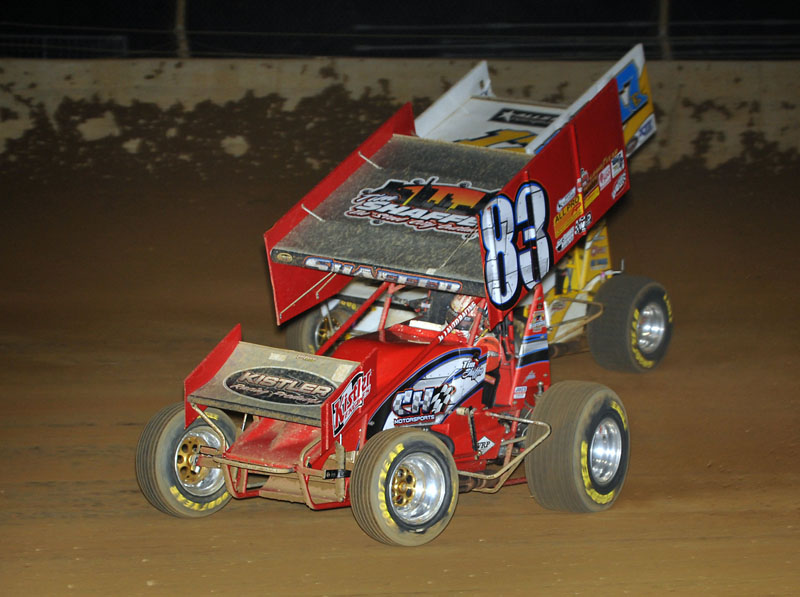 On the strength of 16 wins - including 10 of the final 12 events - Tim Shaffer earned the 2010 All Star Circuit of Champions title. (Ginny Heithaus Photo)