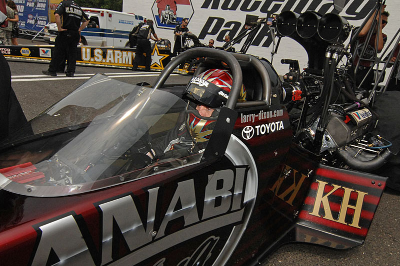 Larry Dixon earned his third NHRA Top Fuel title on the strength of a perfect 12-0 final-round record. (Harry Cella Photo)
