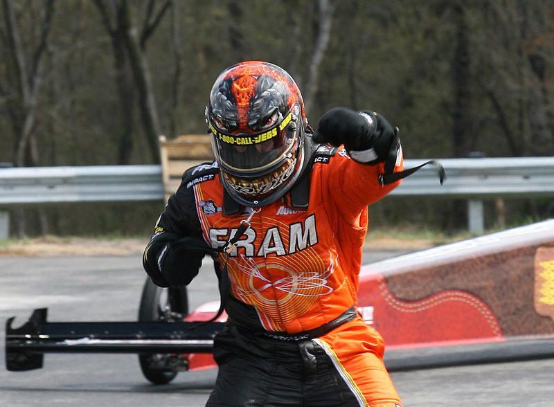 Cory McClenathan, shown here in 2010, snapped a 38-race winless drought with a win at the the NHRA Carolinas Nationals in 2009. (HHP/Harold Hinson Photo)