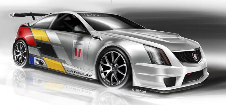 After a three-year absence, Cadillac will return to SCCA Pro Racing World Challenge competition in 2011 with a race-prepared version of its CTS-V Coupe. (Images © GM Corp Photo)