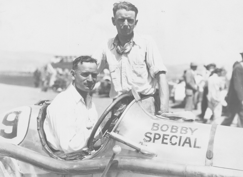 """IN THE SEAT: California dirt-track driver Byron W. """"Speed"""" Hinkley in 1930. (Jim Thurman Collection Photo)"""