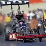 2010 NHRA Top Fuel champion Larry Dixon at Maple Grove Raceway (NHRA Photo)