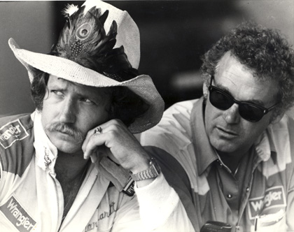 Dale Earnhardt (left) and legendary crewman Dale Inman in 1981.