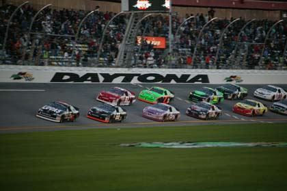 Bobby Gerhart leads the field through the tri-oval. (ARCA Photo)