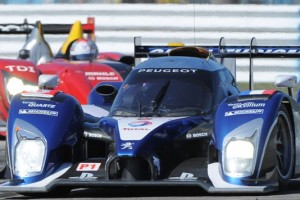 Stephane Sarrazin earned the pole for Saturday's Mobil 1 12 Hours of Sebring in the Peugeot 908. (ALMS Photo)