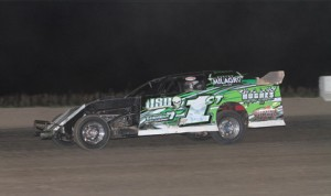 Johnny Scott, shown in 2011 at Missouri's I-35 Speedway, will have to wait until May 21 to race at Cedar County Raceway. The USMTS race was postponed from Thursday due to rain. (Ivan Veldhuizen photo)