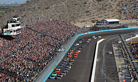 The start of a NASCAR Sprint Cup Series race at Phoenix Int'l Raceway. (HHP photo)