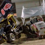 Mini sprints were part of the USAC racing programs at Bubba Raceway Park in Ocala, Fla. (RE Wing photo)