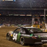 Kyle Busch showed off his NASCAR Nationwide Series car during the Monster Energy AMA Supercross round in San Diego. (AMA photo)
