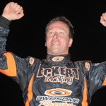 Defending World of Outlaws Late Model Series champion Rick Eckert hopes to end his reign successfully this weekend at The Dirt Track at Charlotte Motor Speedway. (Al Steinberg photo)