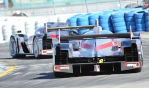 Audi prototypes at Sebring (Fla.) Int'l Raceway in 2012. (Al Steinberg photo)