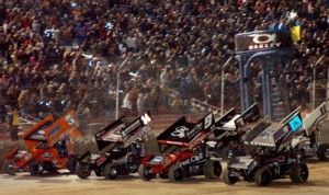 The World of Outlaws STP Sprint Car Series has announced 2014 dates at The Dirt Track at Las Vegas Motor Speedway (Chris Dolack/World of Outlaws photo)
