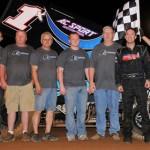 Gary Taylor won Saturday's sprint car race at I-30 Speedway in Arkansas. (TWC photo)